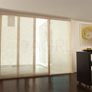 Pearl white - Screen Fabric Panel Blinds