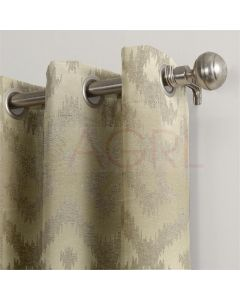 Art Candace Flock Colonial Beige Dimout Curtains