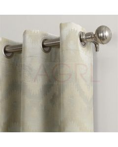 Art Candace Flock Ivory Dimout Curtains