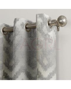 Art Candace Flock Silver Dimout Curtains