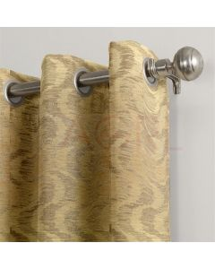 Broken Wave Gold Dimout Curtains