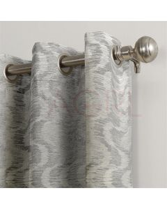 Broken Wave Silver Dimout Curtains