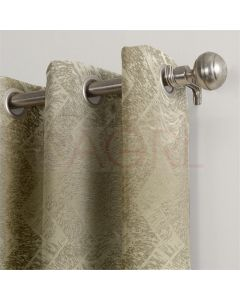 Geometric Hills Colonial Beige Dimout Curtains