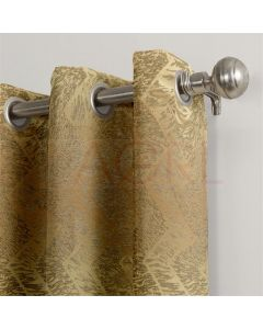Geometric Hills Gold Dimout Curtains