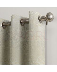 Geometric Hills Ivory Dimout Curtains