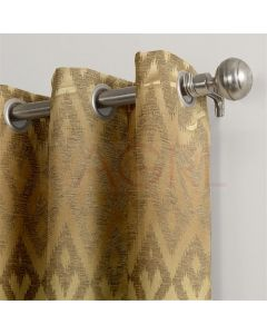 Geometric Wave Gold Dimout Curtains