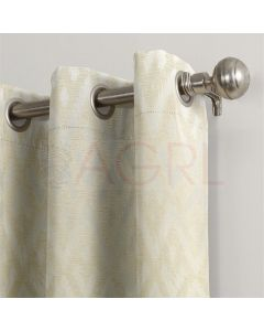 Geometric Wave Ivory Dimout Curtains