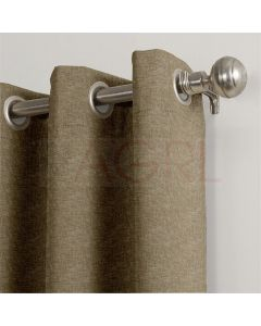 Jute Finish Beige Brown Dimout Curtains