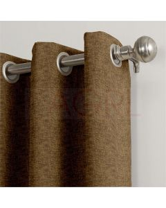 Jute Finish Wooden Brown Dimout Curtains