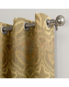 Mystic Patch Gold Dimout Curtains
