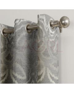 Mystic Patch Silver Dimout Curtains