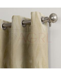 Twisted Curves Beige Dimout Curtains