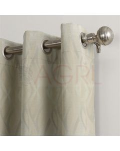 Twisted Curves Ivory Dimout Curtains