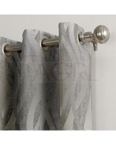 Twisted Curves Silver Dimout Curtains