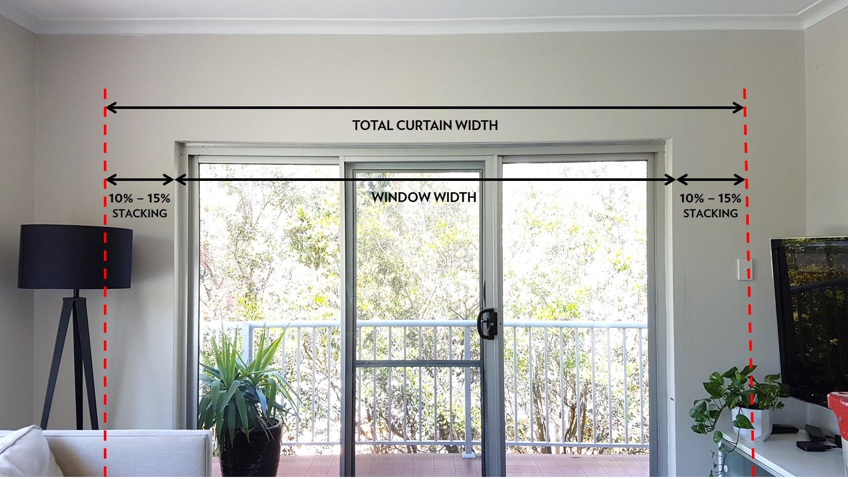 Curtain-width